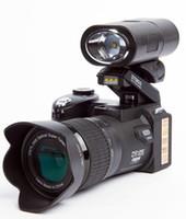 telefoto dijital kameralar toptan satış-POLO D7200 dijital kamera 33MP FULL HD 1080 P Dijital DSLR Kamera 24X optik zoom Otomatik odaklama + Telefoto Lens Geniş Açı Lens