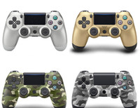 Wholesale Usb Game Pad - For PlayStation 4 PS4 Wired Game Controller Gamepad Golden Camouflage Joystick Game Pad Double Shock USB Controller Console with Retail Box