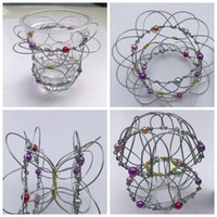 Wholesale toy iron ball - magic flower basket, change metal flower basket the wire ball change iron wire toy Magic Trick Iron Gadget Anti Stress Adult toy KKA4854