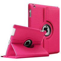 Wholesale ipad new leather case - For New iPad 2017 Pro 9.7 10.5 360 Degree Rotating Leather Smart Case Cover For iPad Air2 Mini 2 3 4