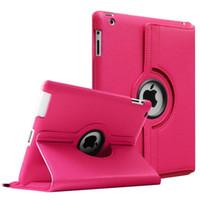 ipad pro kasa toptan satış-IPad Durumda 360 Dönen Deri Kılıflar Kapak Için Yeni iPad 2018 Pro 11 9.7 10.5 Air2 Mini 2/3/4