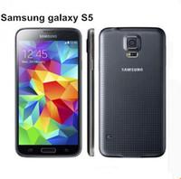 samsung s5 quad core al por mayor-Original Samsung S5 I9600 Original desbloqueado Galaxy S5 I9600 G900A G900F G900H 16MP Quad-core GPS WIFI reacondicionado Teléfono móvil