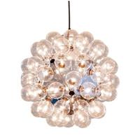 ingrosso luci a soffitto di vetro a bolle-60 teste moderno creativo vetro bolla dente di leone lampadario lampada a sospensione luce a soffitto nuovo per sala da pranzo soggiorno arredamento per la casa