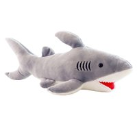Wholesale wholesale sharks toys - High Quality 70cm Shark Plush Toy Stuffed Pillow Doll Birthday Gift Kids Toy Baby Toy Nice Brinquedos for Children LA052