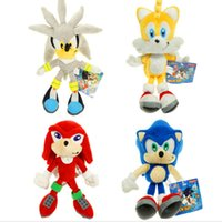 Wholesale sonic anime for sale - 4pcs set cm New Arrival Sonic The Hedgehog SEGA Sonic Stuffed Plush Soft Doll Toy gift
