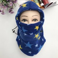 Wholesale winter mask for girls resale online - Outdoor Windproof Fur Hat Child Winter Thick Warm Cycling Cap Fine Hair Face Mask for Boy Girls Cold proof Bike Hat