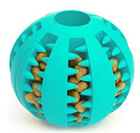 кошачий мяч оптовых-Pet резина утечка пищи мяч собака кошка жевать игрушки интерактивная эластичность арбуз укус устойчивостью собака зубы чистый играть в мяч 7 см