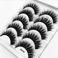 Wholesale artificial eye lashes for sale - Group buy G816 false eyelashes pairs Artificial Mink Hair Lashes Natural Thick Crisscross Makeup Eyelash Extension Volume Soft Fake Eye Lashes