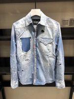 männer polka kleid hemden großhandel-Neues Kleid Hemden Herrenmode Luxus Stilvolle Casual Designer Kleid Polka Dot Shirt Muscle Fit Shirts Männer Casual Shirts
