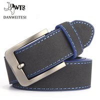 Discount italian casual fashion for men - [DWTS]2017 Fashion Belt For Man Leather Belt Italian Design Casual Men's Belts With Blue and Green Color Belts