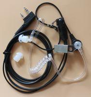 Wholesale Kenwood Ptt - 10x 2Pin Earphone Headset Acoustic Tube Earpiece W PTT MIC For Kenwood Walkie Talkie Radio TK-2170, TK-2173, TK-2200, TK-2201, TK-2202