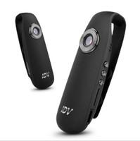 caméra portable achat en gros de-IDV007 Petite Voiture DVR Cam Full HD 1080 P 720 P DV Vidéo Résolution Micro Portable Wearable Mini Caméra feutre pad