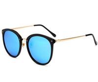 round men s eyeglasses venda por atacado-Olhos homens mulheres grande armação de óculos de sol óculos de sol polarizados coloridos óculos de sol das senhoras óculos de sol dos homens personalidade da moda óculos A359