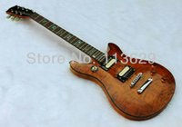 Wholesale Quilted Maple Top Guitar - Factory wholesale Double Cut Way Electric Guitar with Quilted Maple Top, Amber free shipping