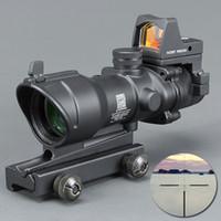 av detektörleri toptan satış-Trijicon ACOG Stil 4x32 Kapsam Docter Mini Red Dot Işık Sensörü (Siyah) ile Avcılık ÜCRETSIZ KARGO