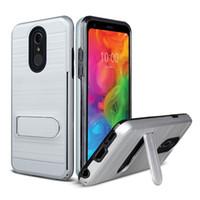 5e0d7da60810 For Motorola MOTO E5 play E5 plus Iphone XS XR XS MAX Polish Brushed Metal  Hybrid Armor Kickstand Case Card Slot Cover Oppbag