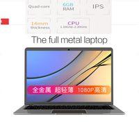 Wholesale ultrabook hdmi - T-bao 14 inch Full Metal Laptop 1920x1080 FHD Intel Apollo Lake N3450 1.1-2.2 GHz 6GB RAM 256GB SSD ultrathin Notebook windows 10 Ultrabook