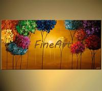 Vente En Gros Peintures Darbres Coloré 2019 En Vrac à Partir De