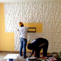 duvarlar için deko çıkartmaları toptan satış-2019 Yeni Varış OEM Renk 3D Duvar sticker 3D PVC duvar Paneli Dekoratif Su Geçirmez Kurulu Duvar DIY Sanat duvar kağıdı Ev Deco için
