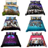 Wholesale cartoon animal bedding online - 3D Printed Bedding Game Fortnite kids room Bedding Sets Fortnite Battle Royale Cartoon duvet Cover Set pillowcase quilt cover bed set