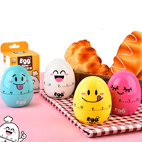temporizadores de cocina al por mayor-Cartoon Egg Design Creative Kitchen Timers Súper Lindo Mecánico Multi Diseño Timing Device para Kitchen Cook Props 6 3yy Z