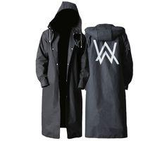 ferramentas para adultos para homens venda por atacado-EVA capa de chuva à prova d 'água adultos estilo longo preto rainwear homem viajar ferramentas de chuva para caminhadas casaco de chuva YY010