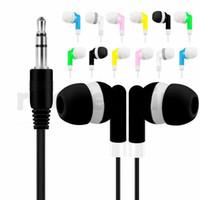 mp4 kulaklıklar toptan satış-Tek kullanımlık kulaklık kulaklık kulaklık 3.5mm jack evrensel kulaklık kulaklık samsung iphone mp3 mp4 tablet android telefon için