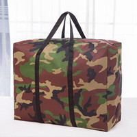 Wholesale fabric dust covers for clothes for sale - Group buy Big Capacity Baggage Storage Bag Oxford Cloth Dust Covers Quilt Clothes Bedding Organizer Bag For Moving Travel QW8925