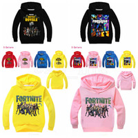 Wholesale baby boy pullover online - Kids Fortnite Print Sweatshirts Baby Boys Girls Cartoon Hoodies Pullover Outwear Costumes Clothes Kids Tops OOA5259