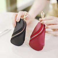 koreanische schlüsselbeutel großhandel-Korean Fashion Key Organizer pu-leder Twist Keychain Brieftasche Frauen Multifunktionale Autoschlüssel Tasche Haushälterin Münze Mini Geldbörse