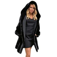 Wholesale Sheepskin Coats For Women - 2017 New Shorn Sheepskin Fur Coats for Women with Faux Fox Fur Collar High Quality Winter Warm Female Jacket Thick Faux Coat