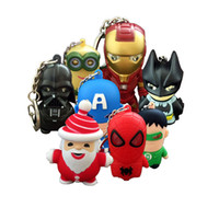Wholesale keyring bulbs - Spider man LED Marvel keychain flashlight with Carabiner Ring Keyrings Key Chains Sport Mini led flashlights keychain key ring