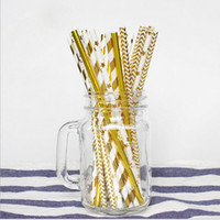 Wholesale paper straws stars for sale - Group buy mm Colorful Disposable Thick Drinking Gold Star Heart Paper Straws For Bar Birthday Wedding Party Straw
