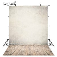 Wholesale vinyl wood backdrop - NeoBack 3x5ft 6x9ft Vinyl Cloth Wall Wood Floor Photo backgrounds new born baby children photo shooting printed Backdrops P1175