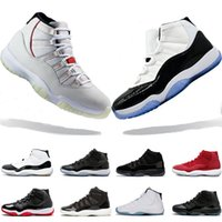Wholesale womens size 11 shoes for sale - In stock s mens Basketball Shoes Platinum Tint Concord Prom Night gym red Bred womens trainers sports sneaker size