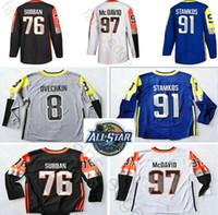 ingrosso divisione di hockey-Atlantic Division 2018 All Jerseys Star Game Roberto Luongo Shea Weber Evander Kane Erik Karlsson Larkin Zdeno Chara Hockey Jersey