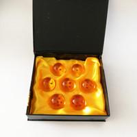melhor brinquedo de bola de dragão venda por atacado-Novo Cristal DragonBall Na Caixa Dragon Ball Z Bolas Figura de Ação Completa Brinquedo Para Melhores Presentes (7 pçs / lote - Tamanho: 3,5 cm) DR1