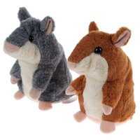Wholesale Hamsters Free Shipping - Russian original fun talking hamster recording hamster mouse Will sound a recording doll free shipping