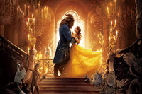 Wholesale beauty beast painting for sale - Group buy Beauty And Beast Film Roles Movie Canvas Poster HD Print Poster Oil Painting Art Wall For Home Decor