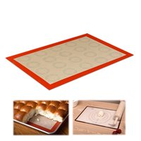 Wholesale Wholesale Cookie Dough - New Fashion 42*29.5 cm Baking Mat Non-Stick Silicone Pad Sheet Bakeware pastry Tools Rolling Dough Mat for Cake Cookie Macaron Pads