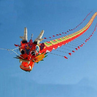 Discount paper decoration designs - Free Shipping High Quality 7m Chinses Traditional Dragon Kite Chinese Kite Design Decoration Wei Factory Weifang Toys