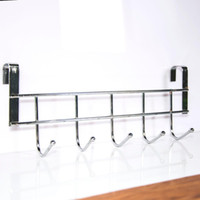 Wholesale Bathroom Hangers Towels - Wholesale- Practical New Five Hooks Home Bathroom Kitchen Hat Towel Hanger Over Door Hanging Rack Holder