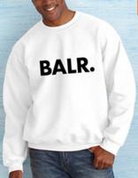 büyük yaka kazak toptan satış-Ücretsiz Kargo Yeni Moda yuvarlak boyun Kazak kazak BALR Tişörtü erkek büyük boy pamuk yuvarlak yaka kazak