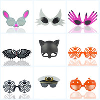 Wholesale kids cartoon sunglasses online - Holiday Party Funny Sunglasses Cartoon Halloween With Various Styles Fashion Brand Design Glasses Christmas Kids Gift Eyewear Mask cr jj