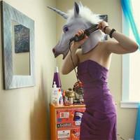 Wholesale Horse Fancy Dress - Unicorn Vizard Masks Latex Horse Head Masquerade Mask Halloween Fancy Dress Prop New Arrive 21sr C R
