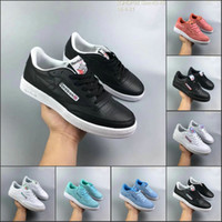 Wholesale full body leather - Reebok full leather breathable fashion sport casual wear shoes 5QHDP92 New Black Blue white green Discount Sneakers 36-44
