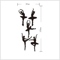 Wholesale Dancers Wall Decor - Free Shipping New arrival Vinyl Wall Stickers Home Decor Ballet Dancer Wall Decals Mural DIY Living Room Backdrop