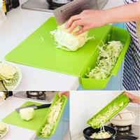 ingrosso tagliere di plastica-Tagliere Storage Pinkycolor Kitchen Pratico Two In One Con Groove Thickening Cut Fruit Plastic Block Nuovo arrivo 18hj V