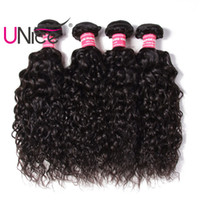Wholesale unice hair for sale - UNice Hair Water Wave Bundles Brazilian Human Hair Bundles Virgin Human Hair Extensions Remy Bundles Cheap Unprocessed Nice Weft