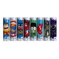 pegatinas de batería vape al por mayor-Lindo superhéroe Capitán Americano Batman Spiderman 18650 20700 21700 Batería Etiqueta engomada de la piel del PVC Vaper Envoltura Cubierta Manga Termo retráctil Vape